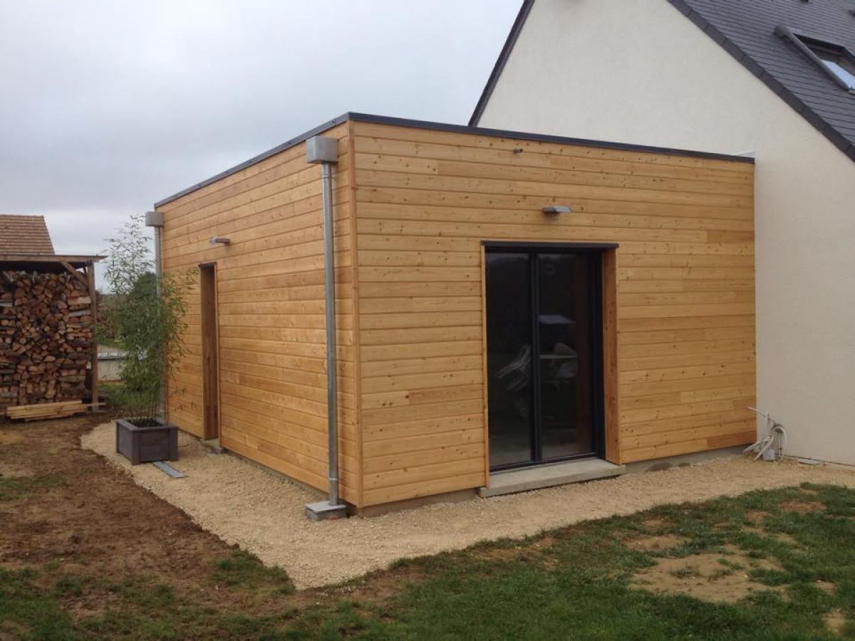 Réalisation d'une extension ossature bois accolée à une maison traditionnelle